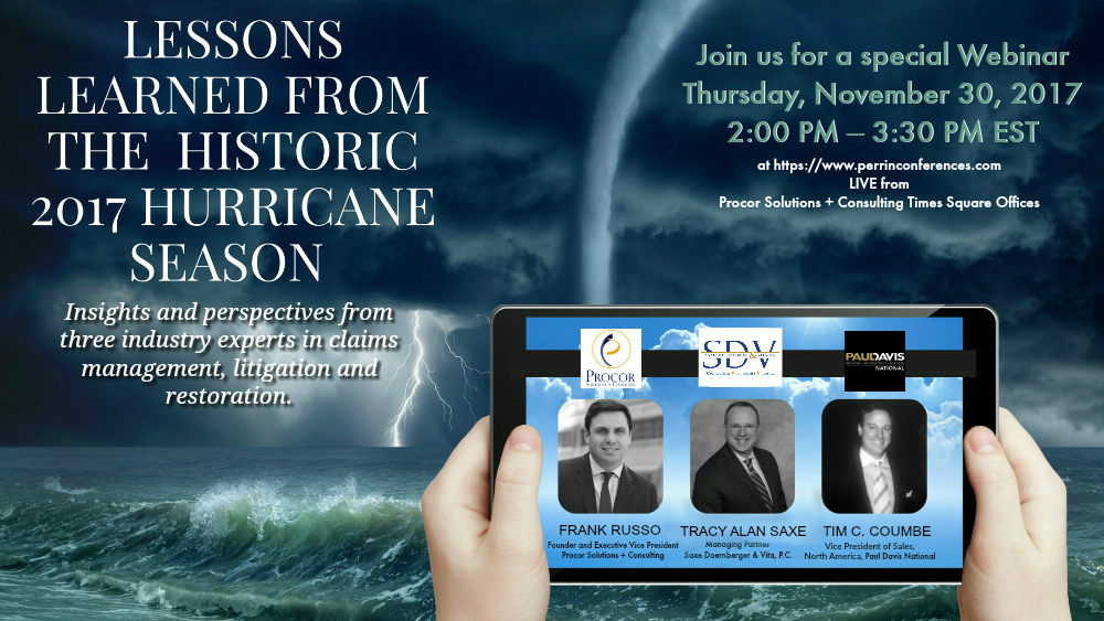 Special Webinar: Lessons Learned From The Historic 2017 Hurricane Season
