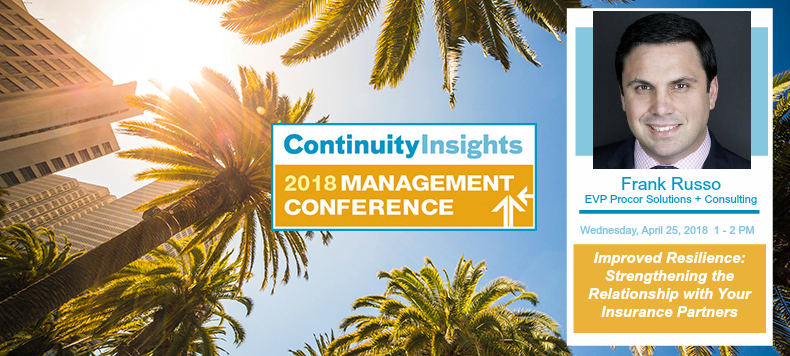Frank Russo To Speak At The 2018 Continuity Insights Management Conference