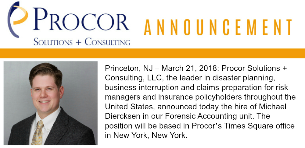 New Hire Announcement: Michael Diercksen