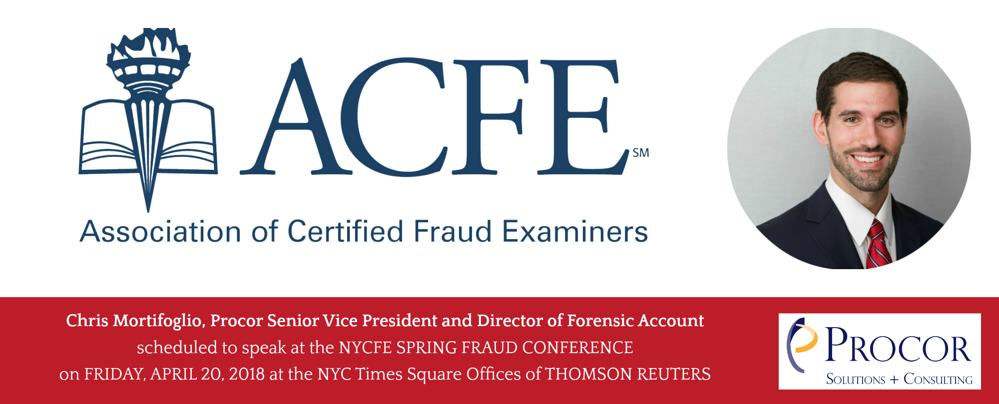 Procor's Chris Mortifoglio Presents At The NYCFE Spring Fraud Conference