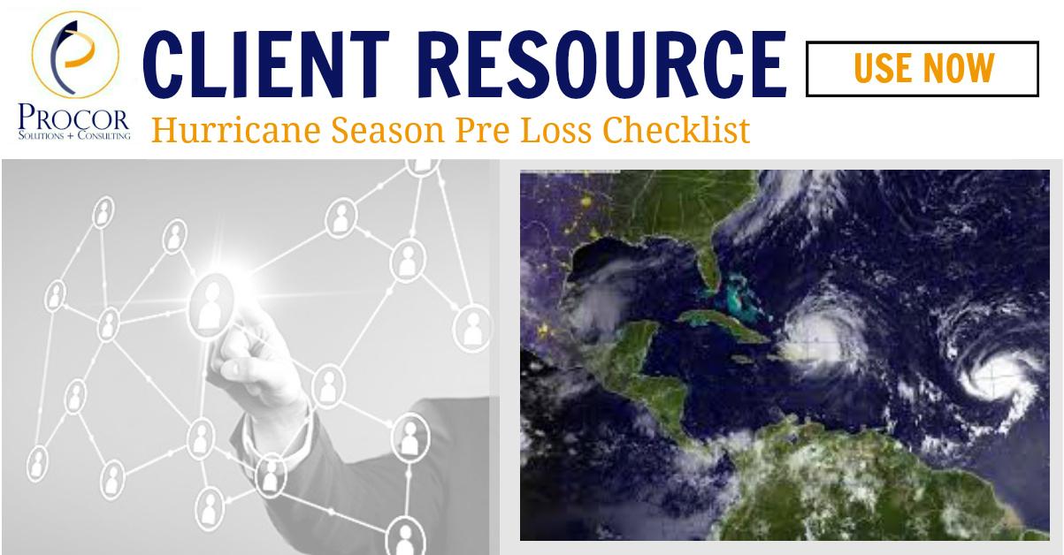 Hurricane Season Pre Loss Checklist