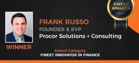 Frank Russo Winner of FiNext Innovator in Finance Awardee