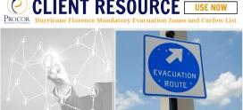 Hurricane Florence Mandatory Evacuation Zones and Curfew List