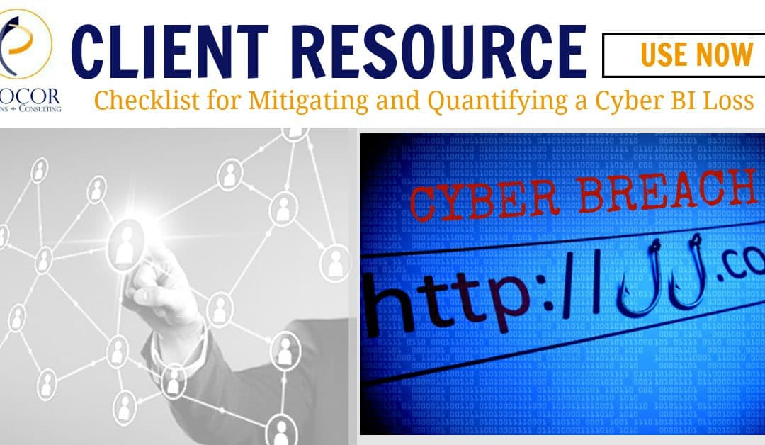 Free Checklist for Mitigating and Quantifying a Cyber BI Loss