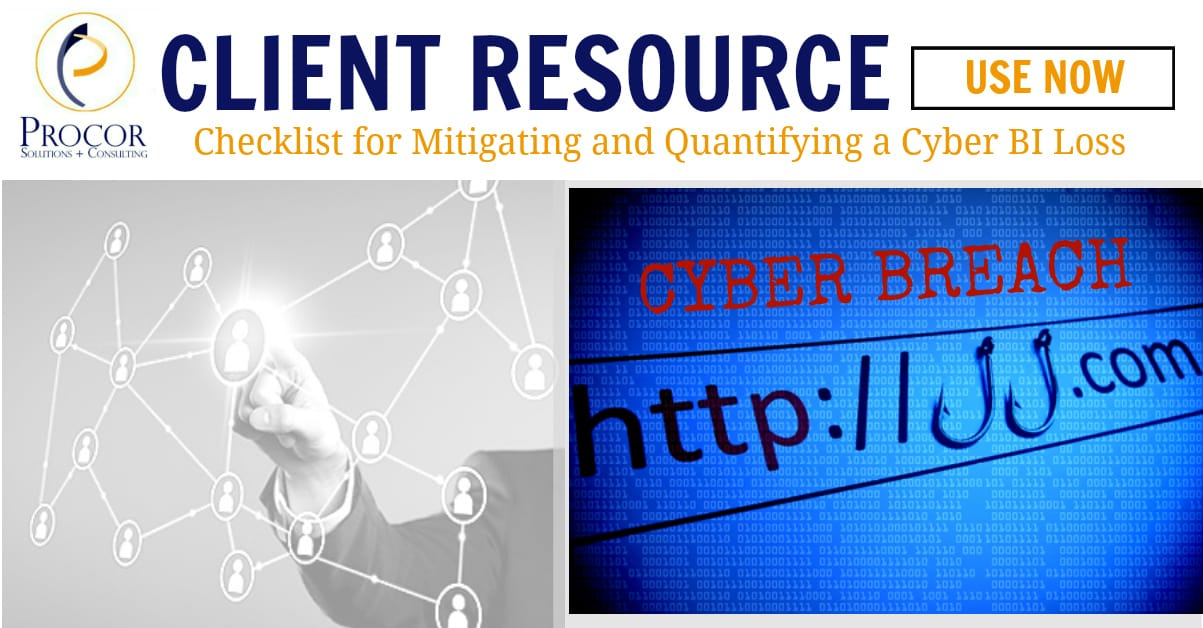 Free Checklist for Mitigating and Quantifying a Cyber BI