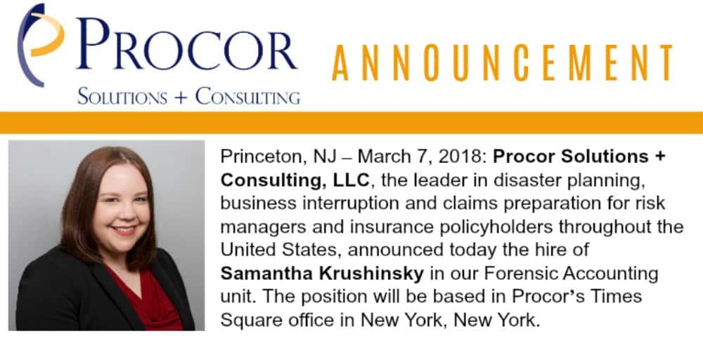 New Hire Announcement: Samantha Krushinsky