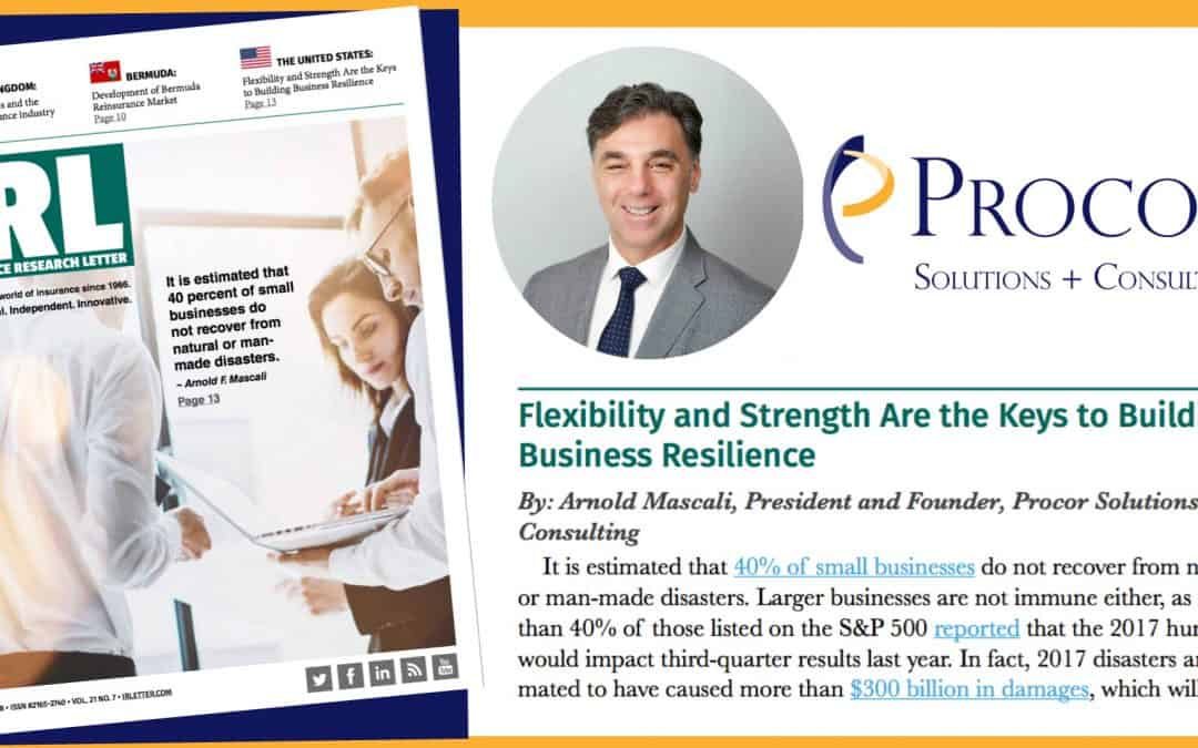 Procor President Arnie Mascali featured in Insurance Research Letter's July 2018 Issue