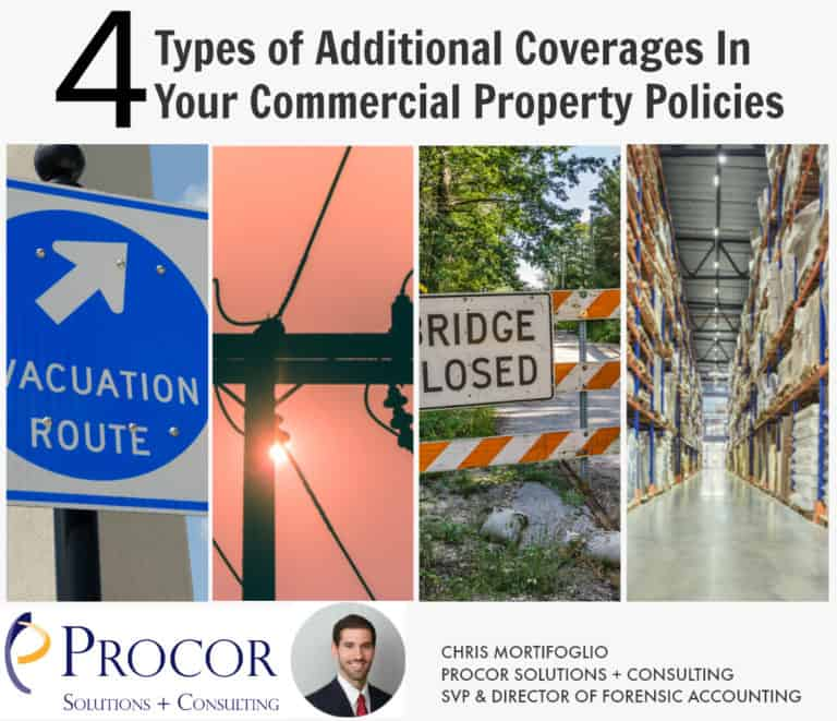 4 Types of Additional Coverages In Your Commercial Property Policies