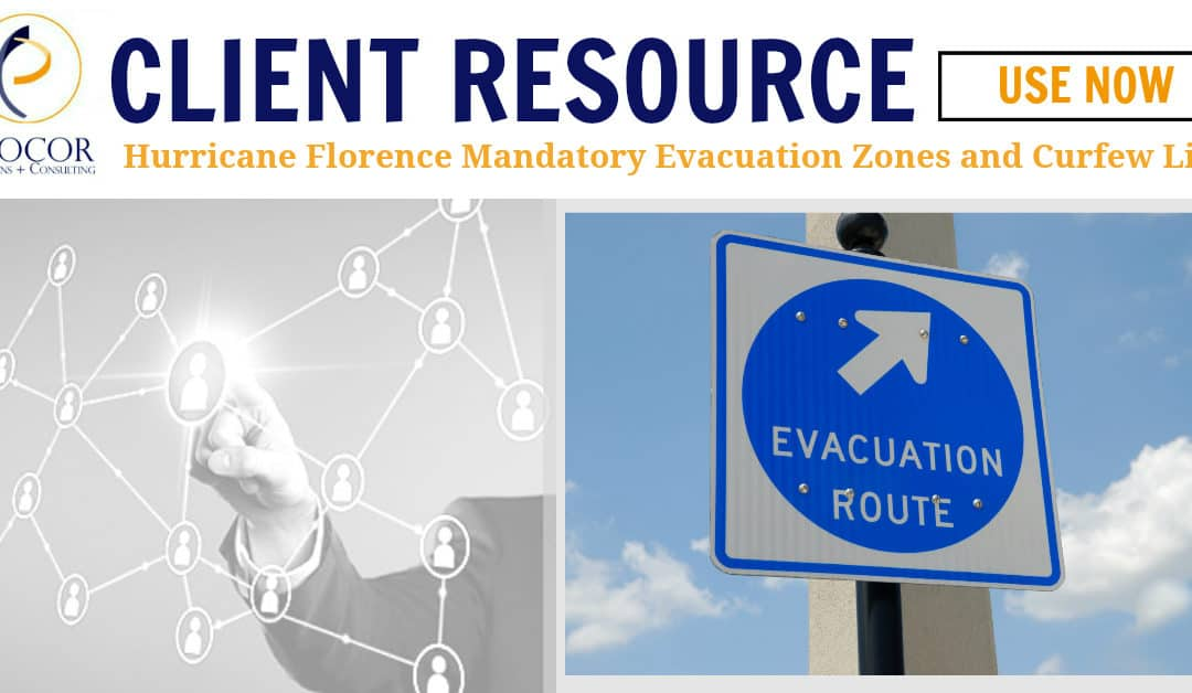 Hurricane Florence Mandatory Evacuation Zones and Curfew List