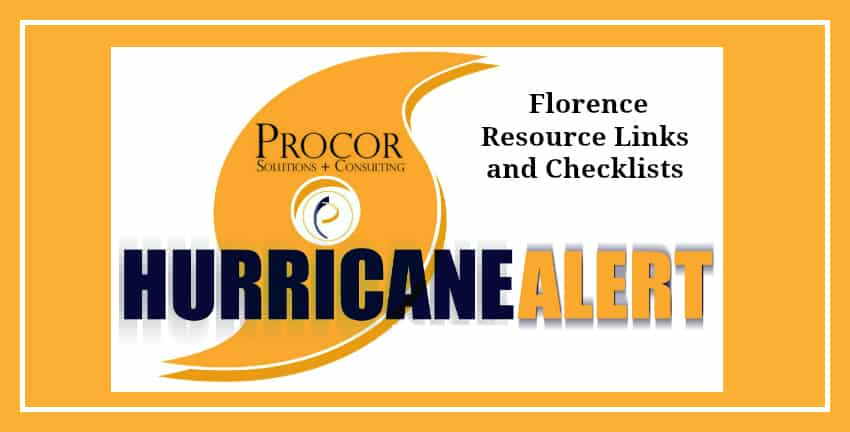 Pre-Loss Checklists and Resource Links For Those Impacted By Florence