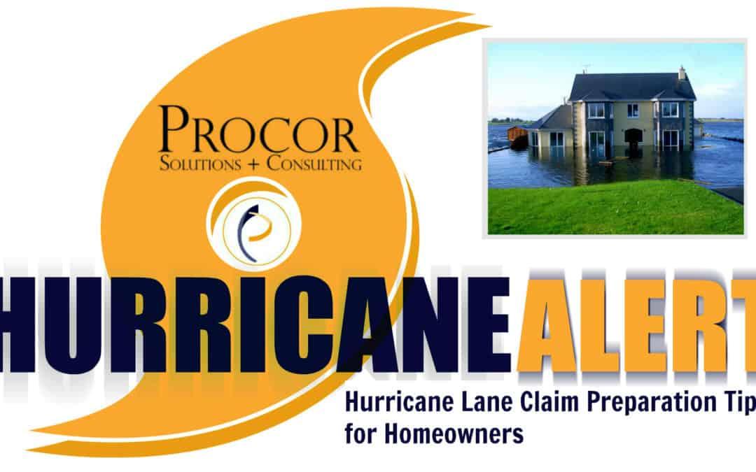 Hurricane Lane Claim Preparation Tips for Homeowners