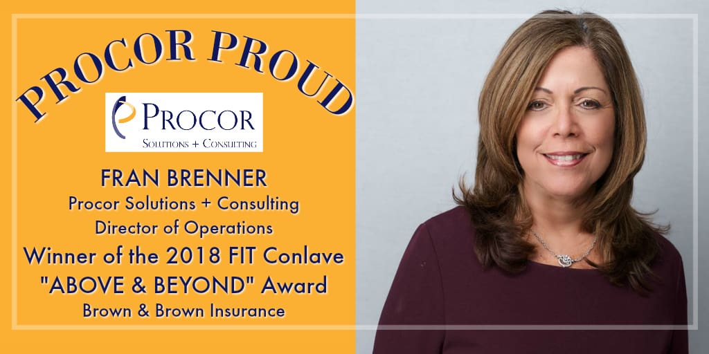 Procor's Fran Brenner Honored With 'Above & Beyond' Award
