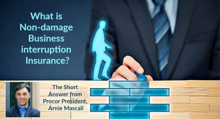 Procor President Arnie Mascali defines non-damage business interruption insurance.