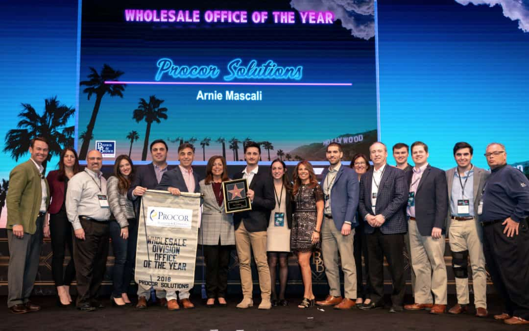 Procor Teammates Take Home Top Awards And An Office Of the Year Win At The 2019 Brown & Brown Annual Sales Conclave