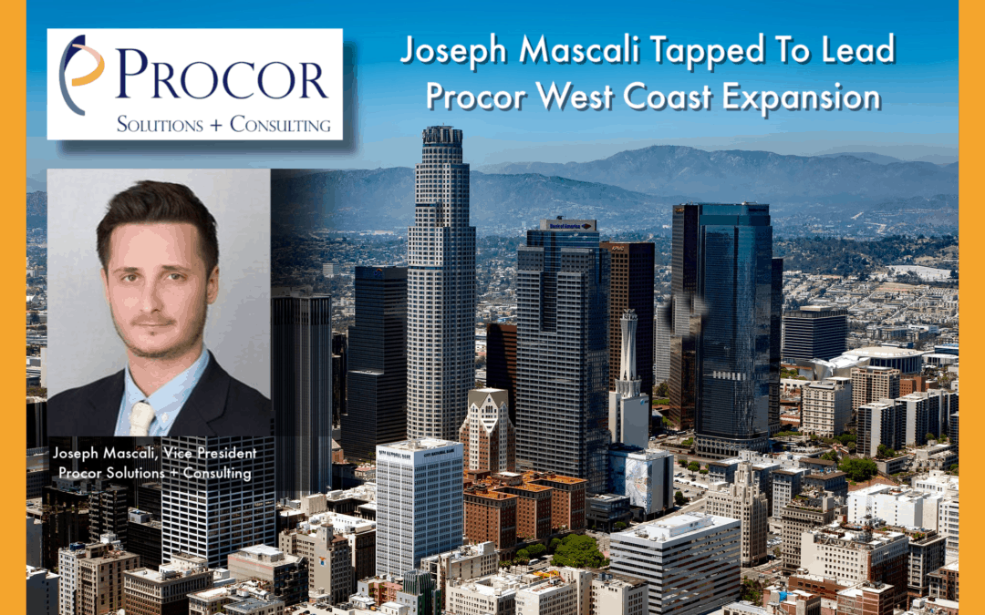 Joseph Mascali Tapped To Lead Procor West Coast Expansion