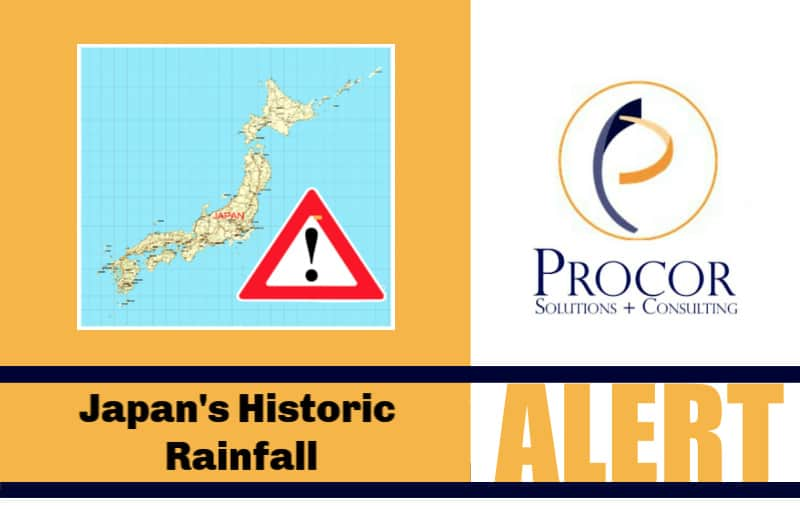 Business Interruption Insurance Claims Likely Triggered By Japan's Historic Rainfall