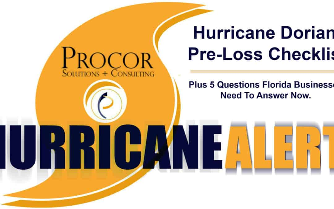 Hurricane Dorian Pre-Loss Checklist For Businesses