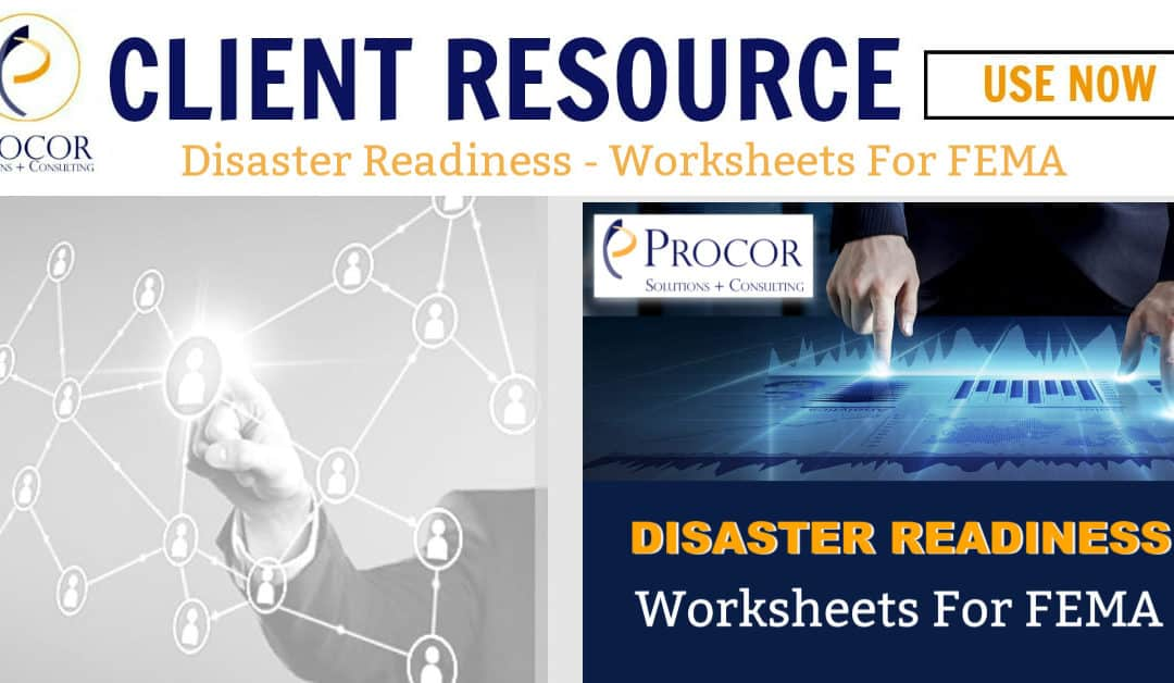 Disaster Readiness FEMA Worksheets