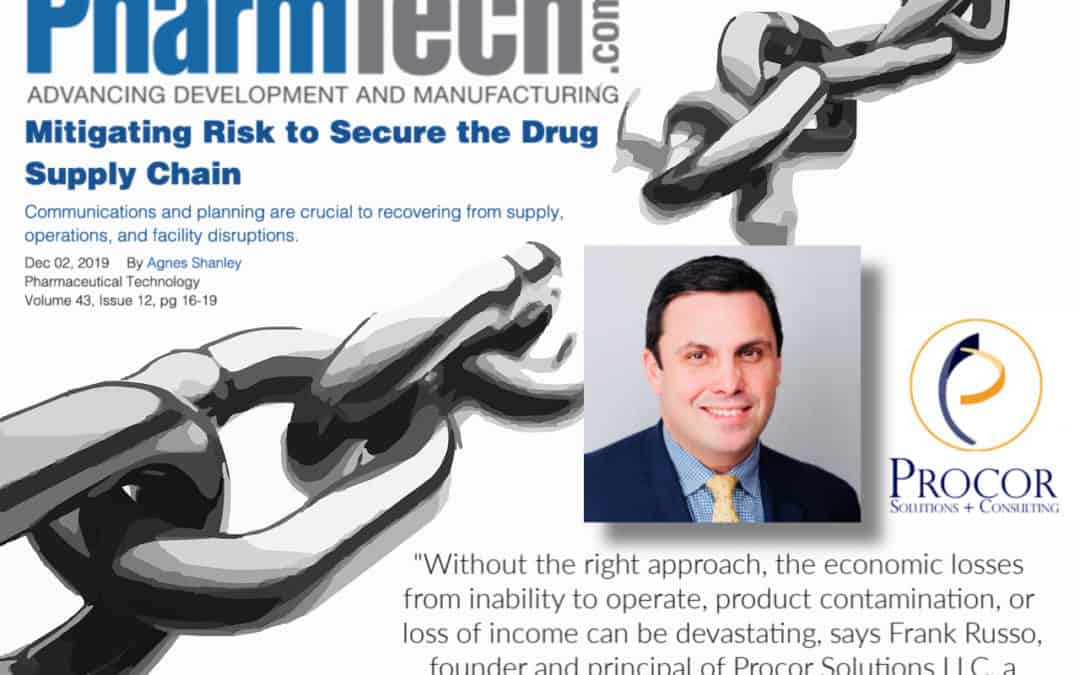Pharmaceutical Technology Interviews Procor's Frank Russo About Supply Chain Risk