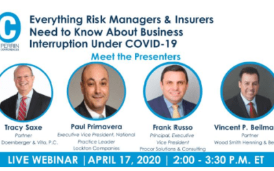 Frank Russo joins panel: Everything Risk Managers & Insurers Need to Know About Business Interruption Under COVID-19