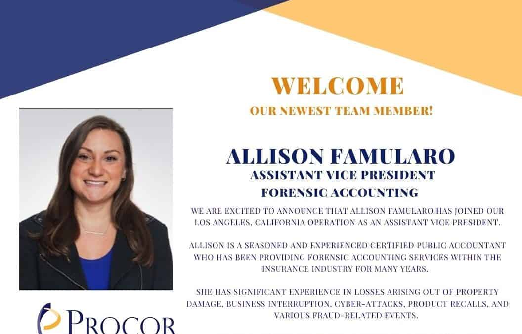 Welcome to the team: Allison Famularo, CPA