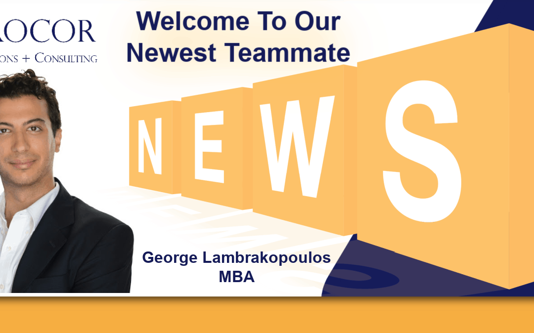 Welcome to the team: George Lambrakopoulos, MBA