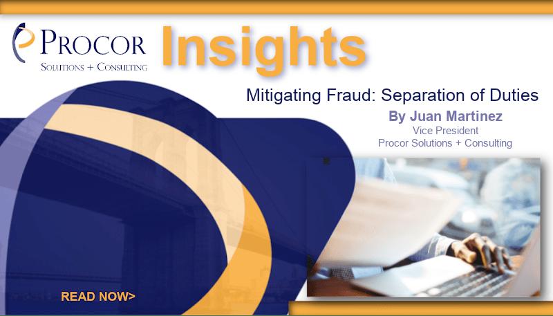 Mitigating Fraud: Separation of Duties